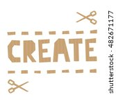 word create cut out of craft... | Shutterstock .eps vector #482671177