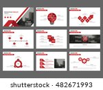 red abstract presentation... | Shutterstock .eps vector #482671993