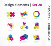 business design elements   icon ... | Shutterstock .eps vector #48267280