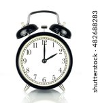 alarm clock isolated on white ... | Shutterstock . vector #482688283