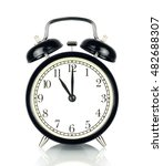 alarm clock isolated on white ... | Shutterstock . vector #482688307