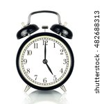 alarm clock isolated on white ... | Shutterstock . vector #482688313