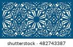 die cut ornamental panel. may...   Shutterstock .eps vector #482743387