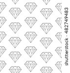 diamond pattern on white... | Shutterstock .eps vector #482749483