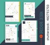 vector brochure cover design...   Shutterstock .eps vector #482751703
