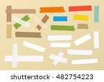 pieces of different size ...   Shutterstock .eps vector #482754223