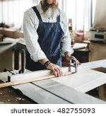carpenter craftsman handicraft... | Shutterstock . vector #482755093