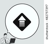 arrow indicates the direction ... | Shutterstock .eps vector #482757397