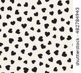 seamless monochrome pattern... | Shutterstock .eps vector #482784943