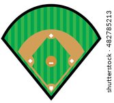 baseball diamond symbol | Shutterstock .eps vector #482785213