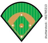 baseball diamond symbol | Shutterstock .eps vector #482785213