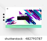 website template with geometric ... | Shutterstock .eps vector #482793787