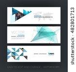 set of modern horizontal... | Shutterstock .eps vector #482801713
