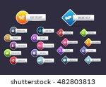 vector website buttons set