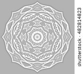 mandala lace decoration ... | Shutterstock .eps vector #482814823