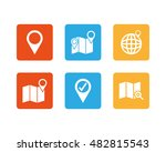 set of location icons on a... | Shutterstock .eps vector #482815543
