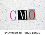 cmo  chief marketing officer ... | Shutterstock . vector #482818537