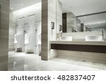 contemporary interior of public ... | Shutterstock . vector #482837407