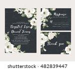 Wedding collection,wedding design,invitation card,romantic floral,white flower | Shutterstock vector #482839447