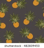 seamless pineapples pattern... | Shutterstock .eps vector #482839453