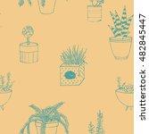hand drawn textured seamless... | Shutterstock .eps vector #482845447