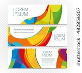 abstract colorful banners set... | Shutterstock .eps vector #482856307
