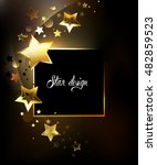 square banner with gold  jewels ...   Shutterstock .eps vector #482859523
