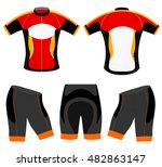 sports cycling vest t shirt... | Shutterstock .eps vector #482863147