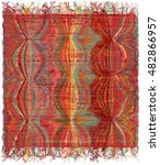 vertical weave tapestry with... | Shutterstock .eps vector #482866957