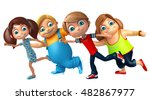 3d rendered illustration of kid ... | Shutterstock . vector #482867977