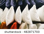 many pillow on shelf in store   ... | Shutterstock . vector #482871703