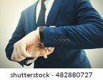 fashionable businessman in... | Shutterstock . vector #482880727