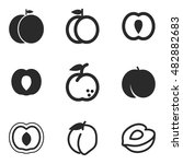 peach vector icons. simple...