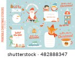 cute christmas cards  labels... | Shutterstock .eps vector #482888347