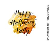 happy halloween party postcard. ... | Shutterstock .eps vector #482899033
