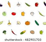 seamless texture of vegetables | Shutterstock . vector #482901703