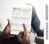 stock exchange trading forex...   Shutterstock . vector #482902387
