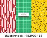 postmodern abstract geometric... | Shutterstock .eps vector #482903413