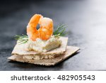 appetizer canape with shrimp ... | Shutterstock . vector #482905543