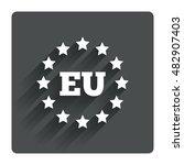 european union icon. eu stars...