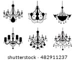 set of silhouette vintage and... | Shutterstock .eps vector #482911237