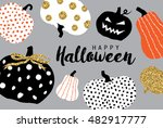 happy halloween | Shutterstock .eps vector #482917777