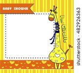 child card. baby shower | Shutterstock .eps vector #482926363