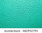 water drops on green texture... | Shutterstock . vector #482952793