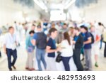 abstract blurred people... | Shutterstock . vector #482953693