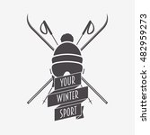 winter sport logo  label or... | Shutterstock .eps vector #482959273