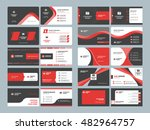 business card templates.... | Shutterstock .eps vector #482964757