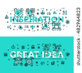 inspiration and great idea... | Shutterstock .eps vector #482964823