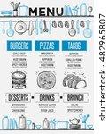 cafe menu food placemat... | Shutterstock .eps vector #482965807