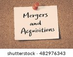 mergers and acquisitions | Shutterstock . vector #482976343